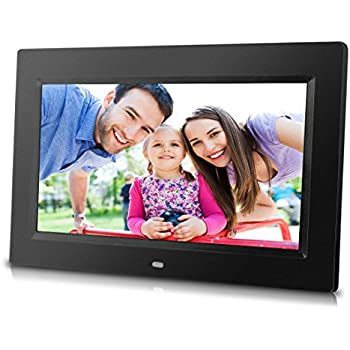 10 inch digital photo frame with remote control high resolution 1024x600 lcd screen built in slideshow adjustable interval time wall mountable