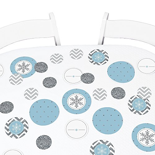 Big Dot of Happiness Winter Wonderland - Snowflake Holiday Party & Winter Wedding Party Giant Circle Confetti - Holiday & Wedding Party Decorations - Large Confetti 27 Count
