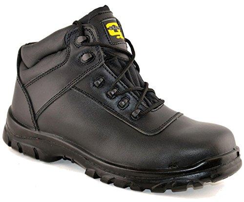 Grafters Hommes En Cuir Robe Uniforme Chaussures 9 Noir