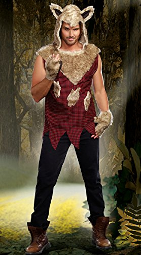 Dreamgirl Men's Big Bad Wolf Costume, Multi-Colored, X-Large ()