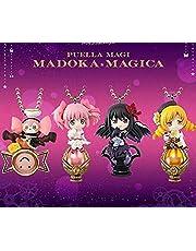 Classic aesthetic HZXHDM 4pcs / Set Puella Magi Madoka Magica Homura Akemi Kaname Madoka Keychain PVC Action Figure Toys Collection Cartoon Model Anime