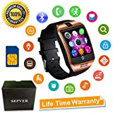 Smart Watch SEPVER SN06 Smartwatch with Touch Screen Camera SIM Card Slot Sport Watch Pedometer Fitness Tracker Smart Watches for Samsung Xiaomi Huawei Sony LG Android iPhone Men Women Kids (Gold)