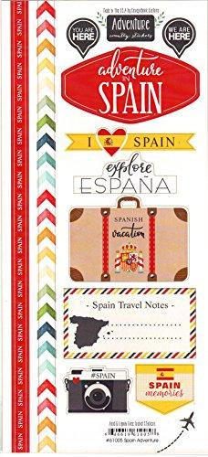 Spain Adventure Cardstock Scrapbook Stickers - Scrapbooking Spain