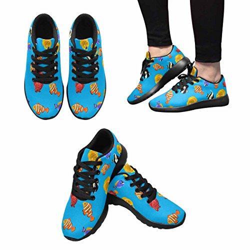 D-story Jogging Running Sneaker Colorful Fish Donna Casual Comfort Sport Walking Scarpe Da Corsa Nere