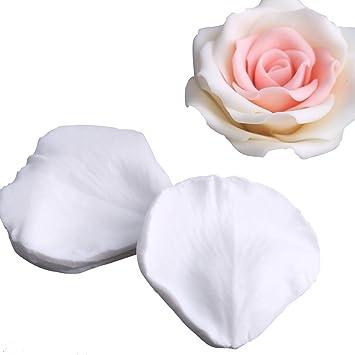 Amazon.com: SK pétalos de rosa molde de silicona 3d fondant ...