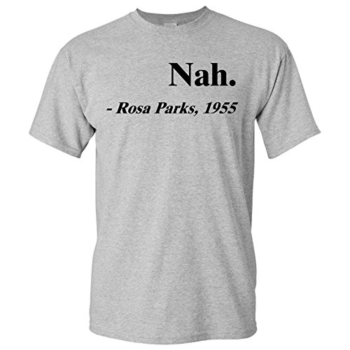 UGP Campus Apparel Rosa Parks Nah. Adult Cotton T-Shirt - Large - Sport ()