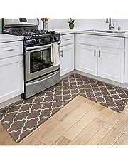"""DEXI Kitchen Rugs Set 2 Piece,Non-Slip Waterproof Kitchen Mat,Anti Fatigue Comfort Floor Mat, Easy Clean Kitchen Floor Mats,17"""" x 29""""+17"""" x 59"""""""