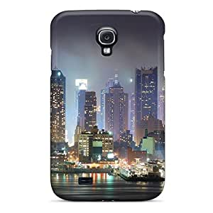 Shock-dirt Proof The Piers Of Nyc On A Foggy Night Case Cover For Galaxy S4