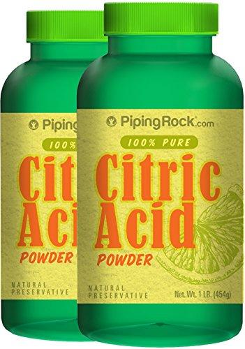 Citric Acid Powder 2 Bottles x 1 lb (454 - Jar 454g