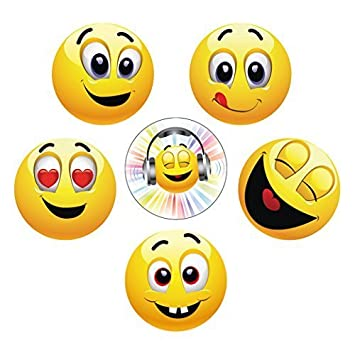 Funny Smiley Emoji Magnets (Large): Diameter 5 6 cm Fun Edition