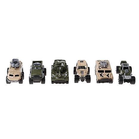 Véhicule Sharplace Tout 6pcs Mini Série Cuirassé Militaire Voiture 4j5RL3Aq