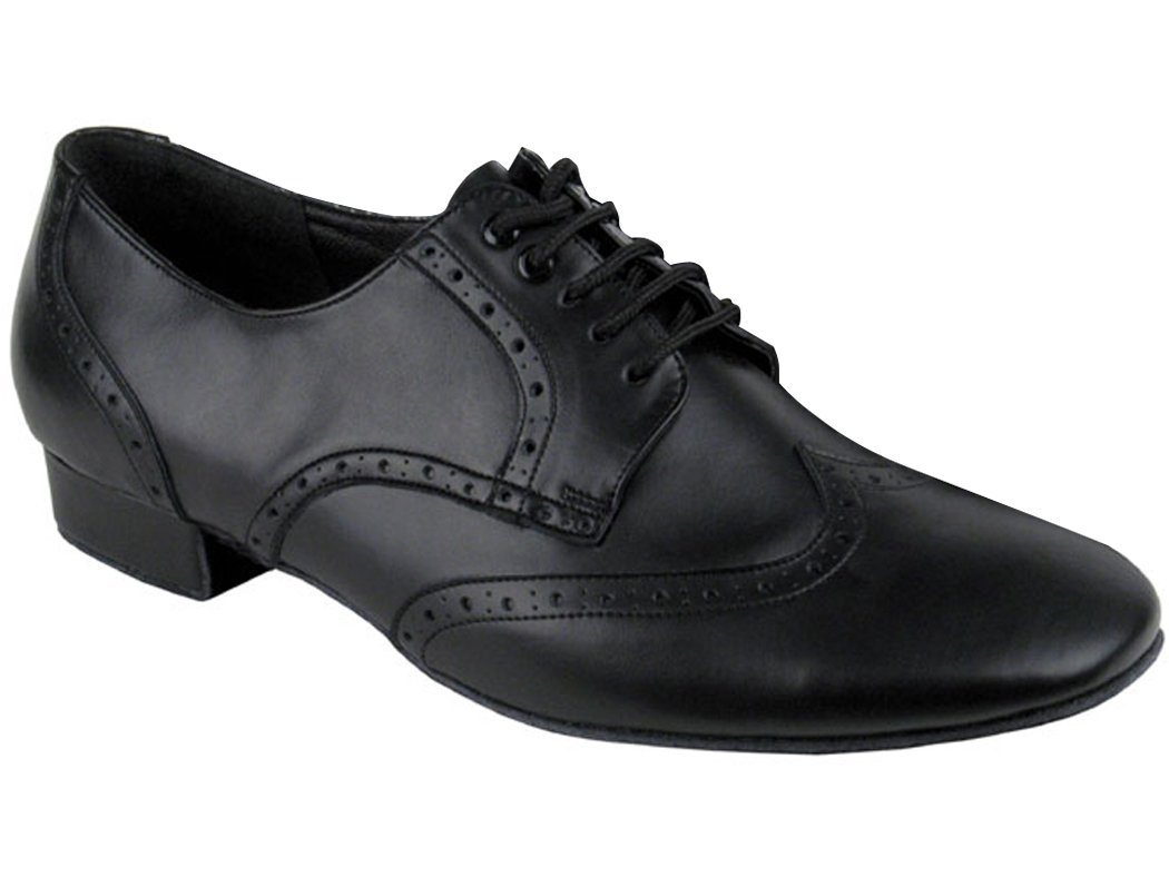 Very Fine Shoes Men's Standard & Smooth Spectator Swing Ballroom Shoes B0182Y15UE 12.5 D(M) US|Black Leather
