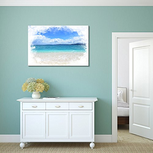Print Landscape Picture of a Beautiful Beach and Blue Sea