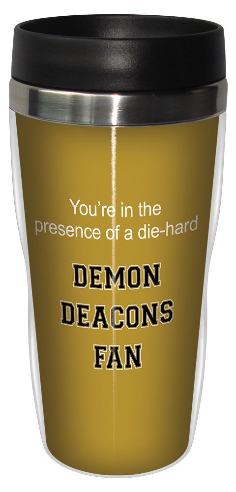 Tree-Free Greetings sg24604 Demon Deacons College Football Fan Sip 'N Go Stainless Steel Lined Travel Tumbler, 16-Ounce