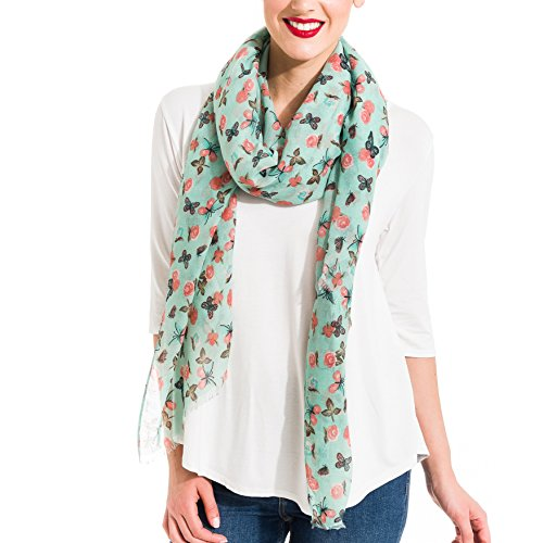 Scarf for Women Lightweight Butterfly Fashion Fall Winter Scarves Shawl Wraps by Melifluos (SS22)