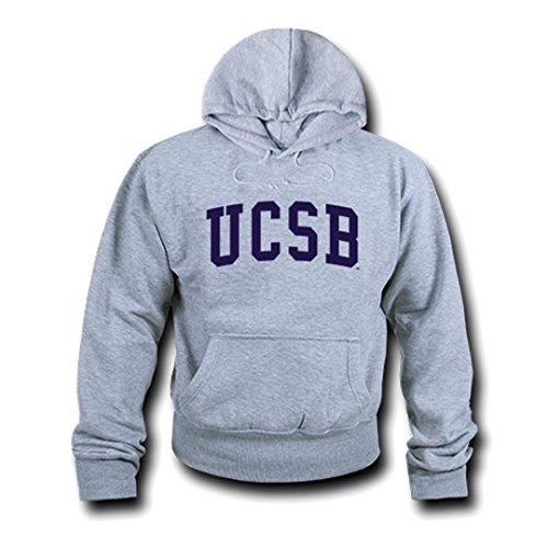 - W Republic Game Day Hoodie UCSB44; Heather Grey - Extra Large