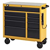 Cat 9-Drawer Ball-Bearing Workstation with Stainless Steel Work Surface, 41'' W - Designed, Engineered and Assembled in the USA