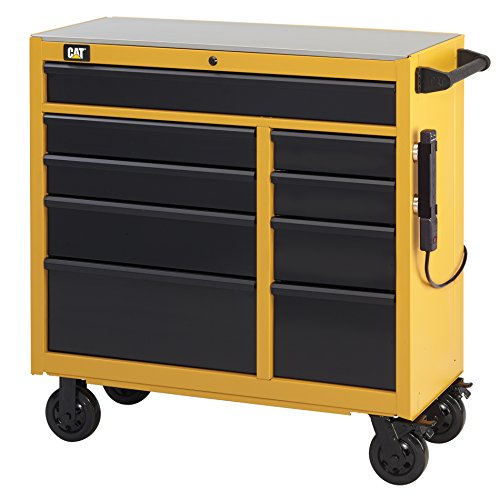 Cat 9-Drawer Ball-Bearing Workstation with Stainless Steel Work Surface 41 W - Designed Engineered and Assembled in the USA