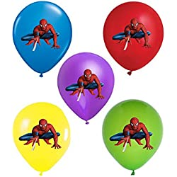 "SPIDERMAN 12"" Party Balloons 25 pcs, assorted colors 2018 New Design"