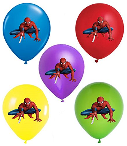 "SPIDERMAN 12"" Party Balloons 25 pcs, assorted colors 2018 New Design by VISION Party Balloons"