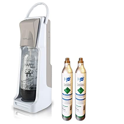 carbonatador Agua Happy Frizz Light Sand + 1 BOTT. + 2 bombonas co2 de 450