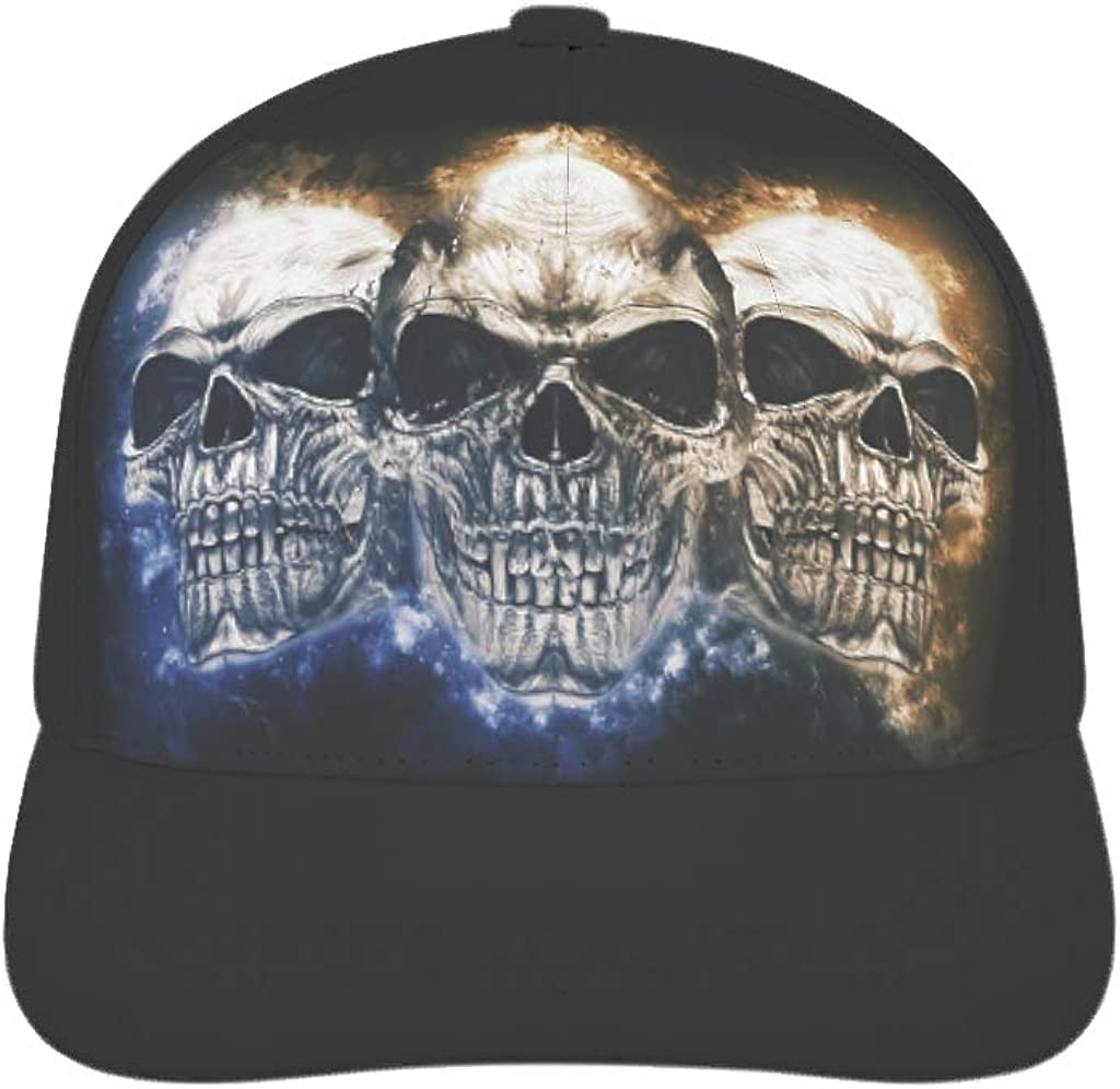 Casquette de baseball unisexe avec t/ête de mort r/églable Snapback casquette vintage casquette casquette de baseball casquette pour homme femme