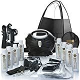 Spray Tan Machine | Rapidtan System Professional HVLP Spray Tan Kit with Supplies | Sticky feet, Tanning Tent, Airbrush Gun, 6 X Sunless Spray Tan Solutions
