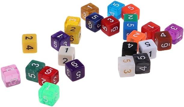 D DOLITY Dado de Poliedro Accesorios para Juegos de Mesa de Tablero Color Enviar al Azar - D6 Dados de 6 Caras (25 Piezas): Amazon.es: Juguetes y juegos
