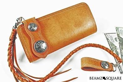 44c871eb98b5 Amazon | BEAMZ SQUARE バッファローレザー長財布 ラウンドファスナー メンズ 本革 ウォレットチェーン | BEAMZ SQUARE (ビームス スクエア) | 財布
