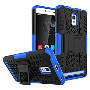 Lenovo A6600 Case, BasicStock Shock-Resistant Backcover Shell Skin Skins Bumper with Backcover Protective Case Cover for Lenovo A6600 -Blue