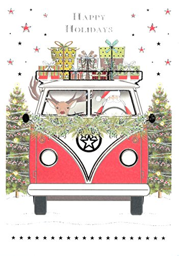 Quire Publishing VW Bus Embossed & Foiled Boxed Christmas Cards (MCX4483BX)