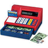 Learning Resources Pretend & Play Calculator Cash Register, Regular, Standard Packaging (Red/Blue)