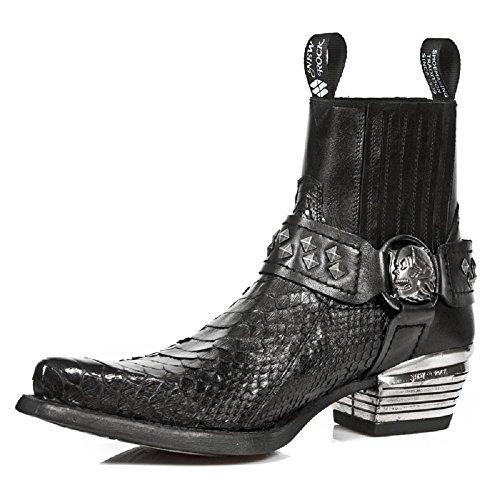 Rock Schwarz Stiefel Schwarz New S4 Dallas 7995PT M wUnxffTgqv