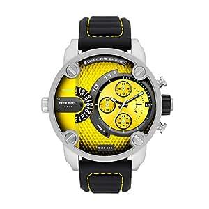 386789b9b210 Diesel Reloj Analógico para Hombre de Cuarzo con Correa en Silicona DZ7411   Amazon.es  Relojes