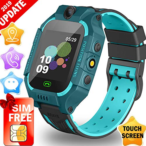 Kids GPS Tracker Watch,【SIM Card Edition】Smart Watch Phone for 3-12 Years kids Toddlers Boys Girls, 1.44