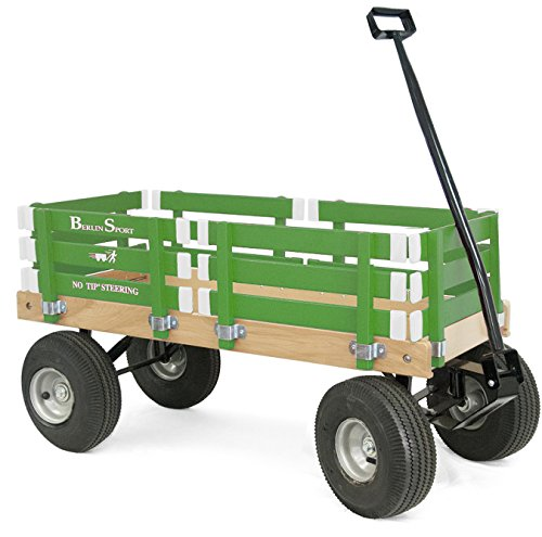 Berlin F410 Amish-Made Sport Ride-On Wagon, Emerald (Berlin Sport Wagon)