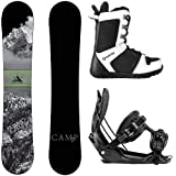 Camp Seven Valdez 2019 Snowboard Snowboard with Flow Snowboard Bindings Snowboard Package (156 cm, Medium)