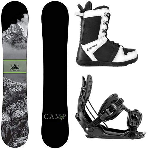 (Camp Seven Package Valdez CRC Snowboard-163 cm Wide-Flow Alpha MTN XL-System APX Snowboard Boots 12)