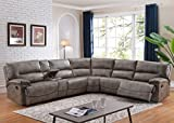Donovan 6-Piece Sectional with 3 Recliners