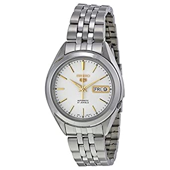 b68c5b20ffe8 Image Unavailable. Image not available for. Color  Seiko Men s SNKL17 Seiko  5 Automatic Silver Dial Stainless-Steel Bracelet Watch