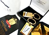 The British Gold Company Pure 24K Gold Finished Jaguar Keyring Mug Fift Set In Luxury Box With Certificate