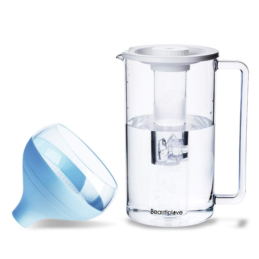 Beautiplove Portable Water Filter Updated Version, Fills Any Water Pitcher, Fast Filtering BPA Free Water Purifier with Patented ACF Technology CF-7000