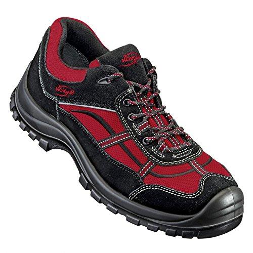 Schutzschuhe Stahlkappenschuhe Schuhe Spider Halbschuh S1 schwarz-rot schwarz-rot schwarz-rot - Größe 47 b1ce0b