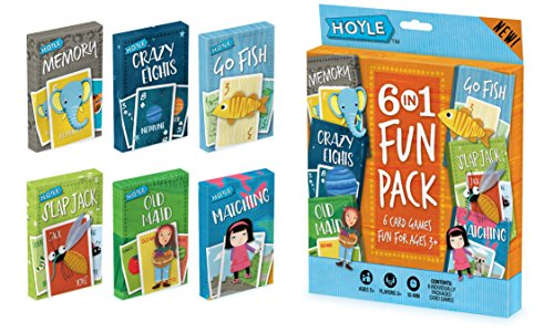 Hoyle Kid's 6 in 1 Fun Pack- Card Games (artwork may vary)