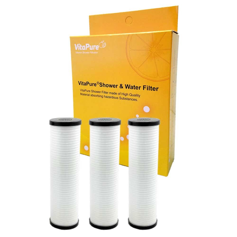 Sonaki PureMax Shower Filter Refill Cartridges - Pack includes 3 ACF Filter - Removes Bacteria, Heavy Metals and Chlorine by Sonaki (Image #1)