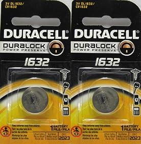 2 x 2 Duracell CR1632 1632 car remote batteries
