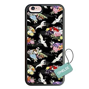 Personalized Popular Design iPhone 6s Slim TPU soft Case -Red-crowned Crane Pattern Bumper Case for iPhone 6s (4.7 inch)