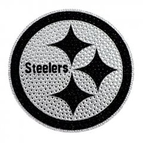 (NFL Pittsburgh Steelers Bling Emblem, 6.25-inches)
