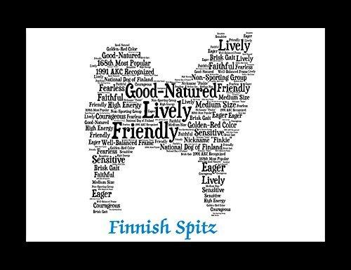 Finnish Spitz | Personalize | Custom | Print | Art | Dog Art | Gift | Wall Decor | Memorial