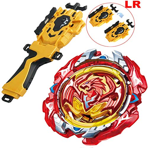 (Gold LR String Launcher Grip Bey Battling Top Set Burst Blades Evolution Bey Battle Booster Starter Gyro Bay Battle Top B-117 Revive Phoenix.10.FR Novelty Spinning Game Toys Gift for Boys)